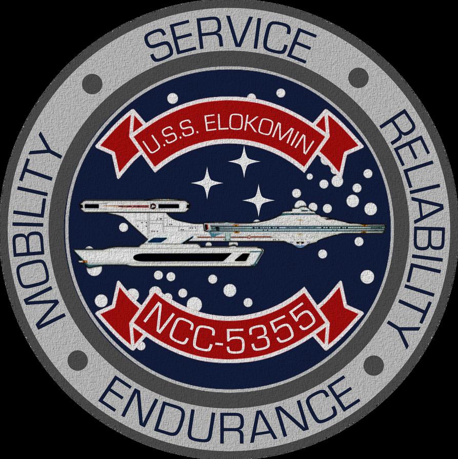 USS Elokomin NCC-5355 Ship's Insignia by viperaviator