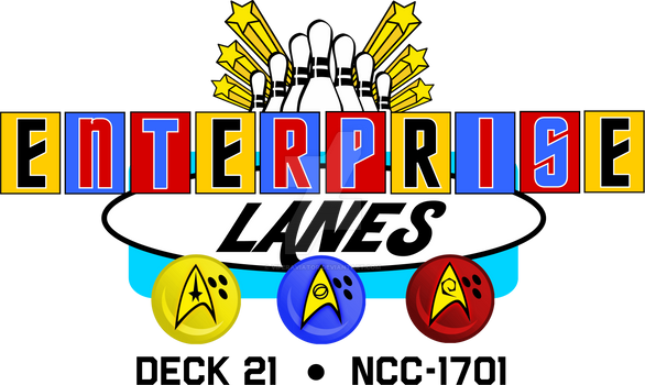 TOS USS Enterprise Bowling Alley Logo