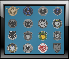 S.H.I.E.L.D. Insignia Shadow Box by viperaviator