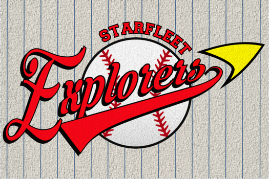 Starfleet Explorers Baseball Team Pennant