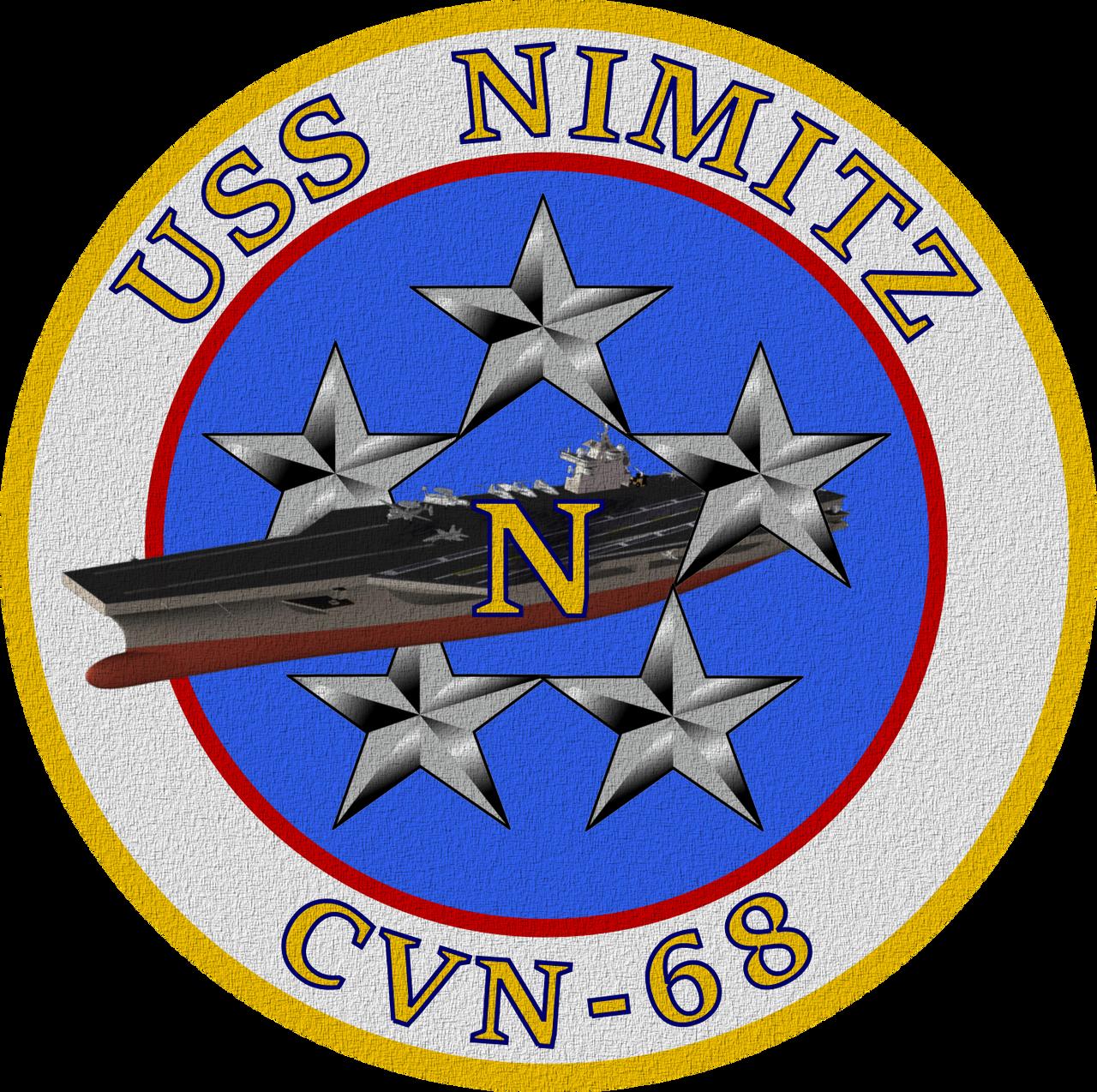 USS Nimitz CVN-68 Ship's Insignia Patch