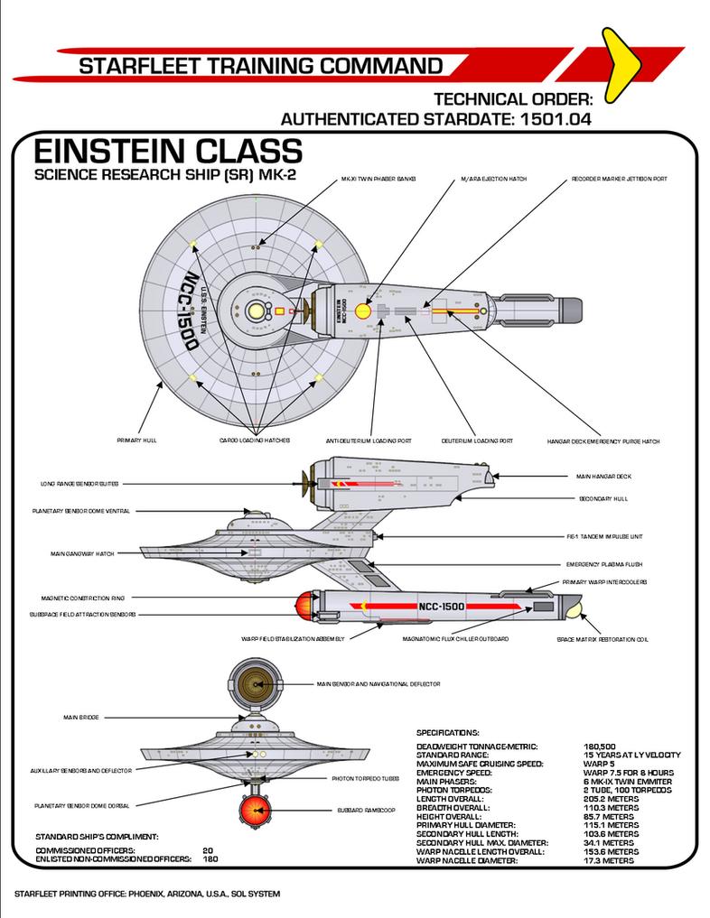 Star Trek Tos Einstein Class Science Research Ship By