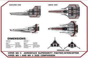 Viper MK II Blueprints MKI, MKII Size Comparison
