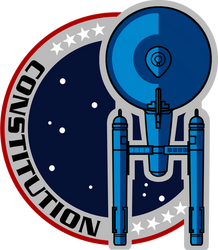 USS Constitution Mission Patch NX-01 Style