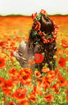 Dorothy in poppies