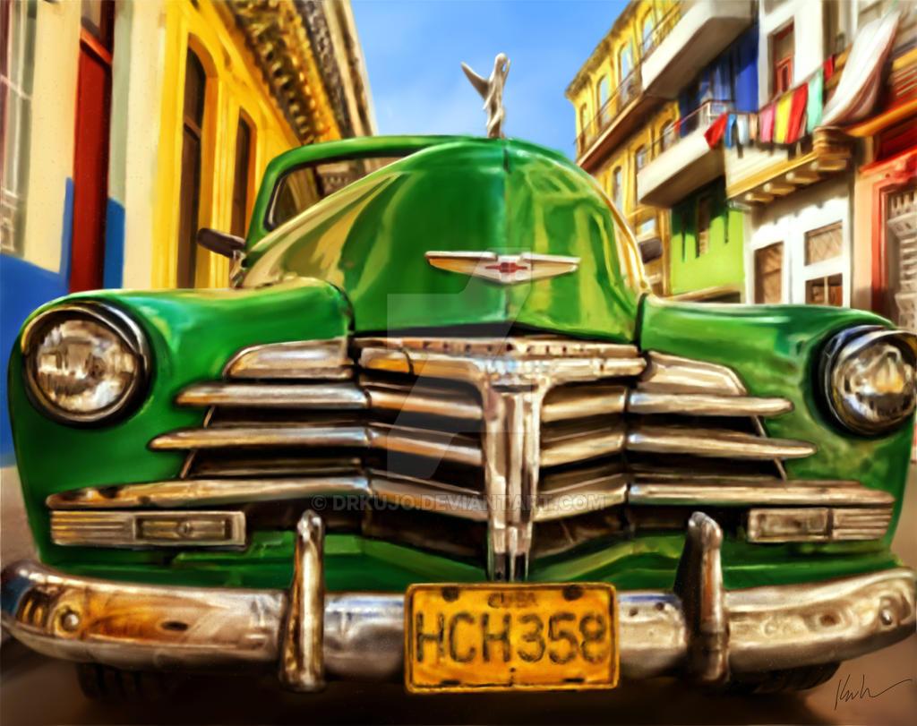 Classic Car Original Paintings