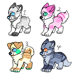 CANINE ADOPTABLES AUCTIONS [ 1/4 OPEN ] by TangerineAdopts