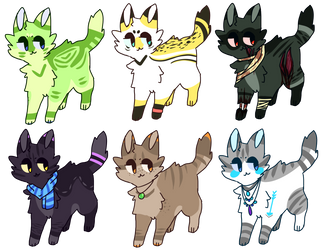 CAT ADOPT BATCH [ 1/6 OPEN ] by TangerineAdopts