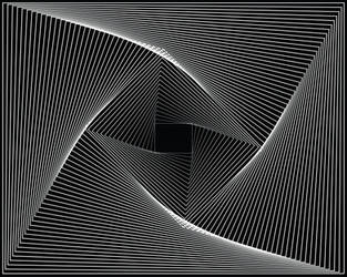 Spirograph Vector 3 - Box Vortex in white by EyeoftheDragon237