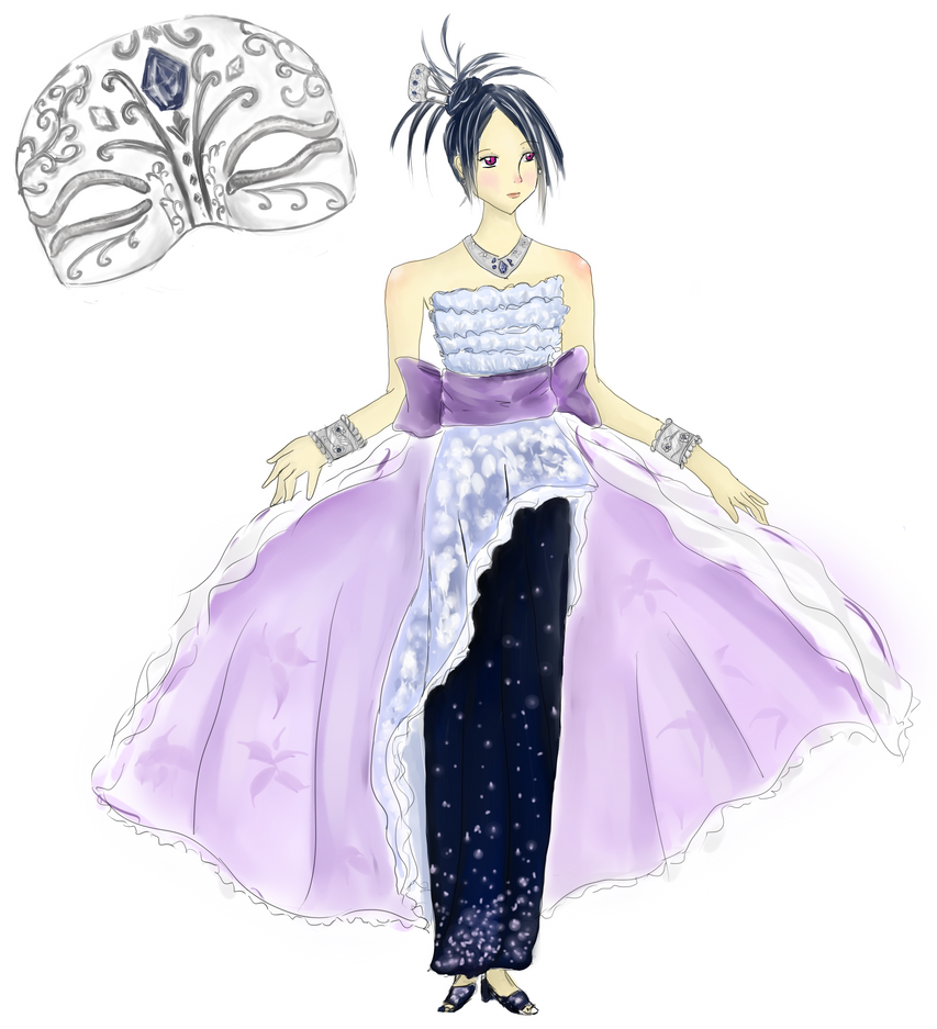 Anime Girl Ball Gown