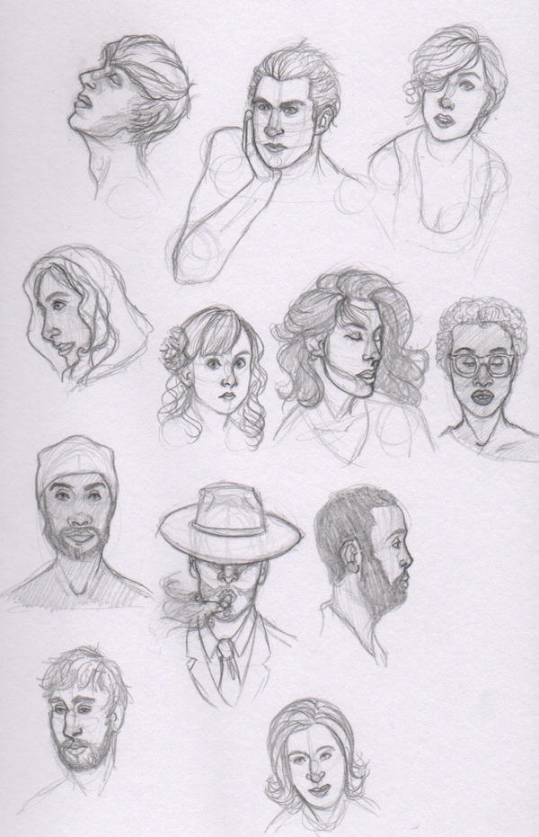 Lots of Faces by merrydisposition