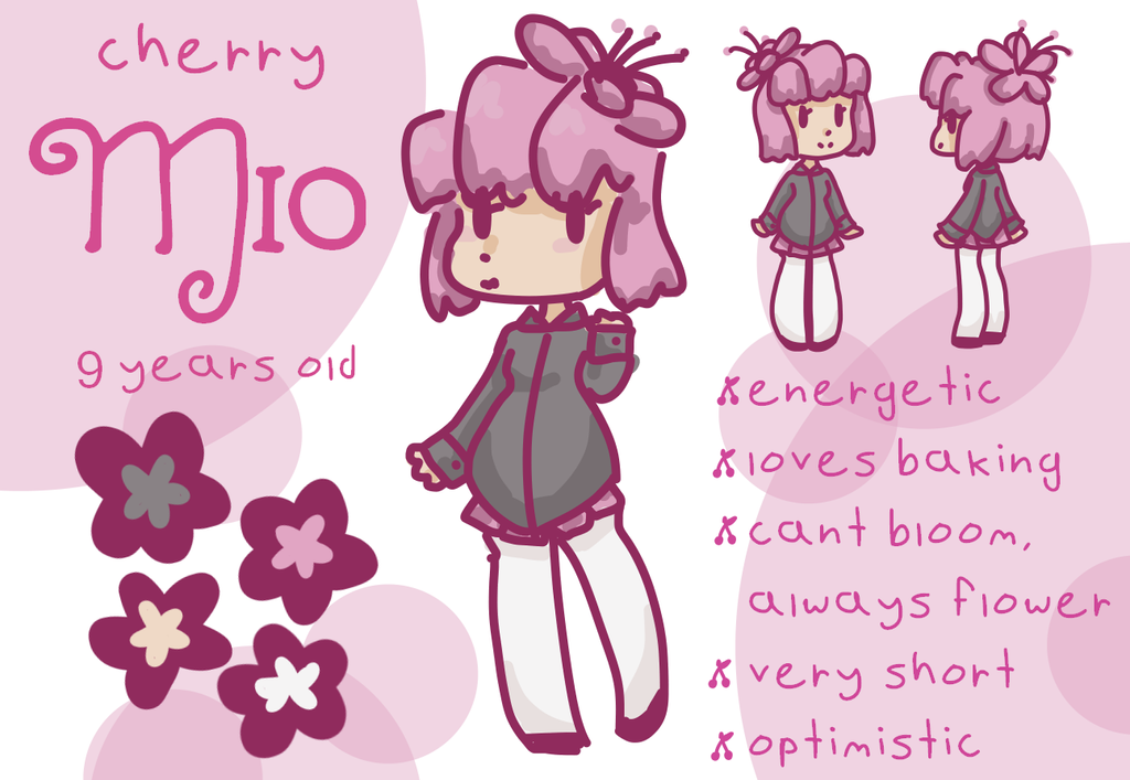 Mio reference - Hanabi Species by alliemews