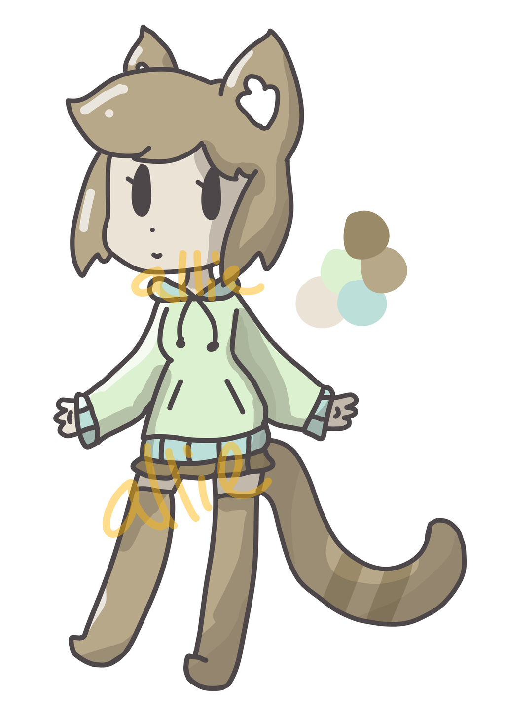 [closed] Cat-girl DTA Adopt by alliemews