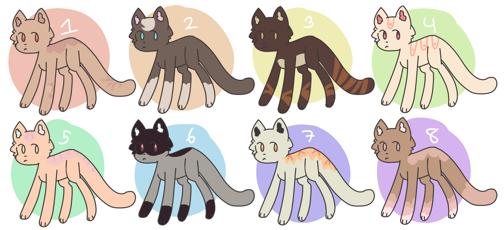 Cute Cat Adopts [OPEN][CHEAP][7/8] by alliemews