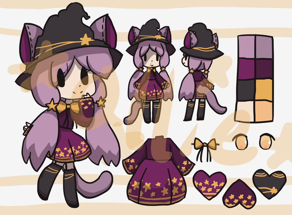 Starry Witch Kemonomimi[AUCTION][CLOSED] by alliemews