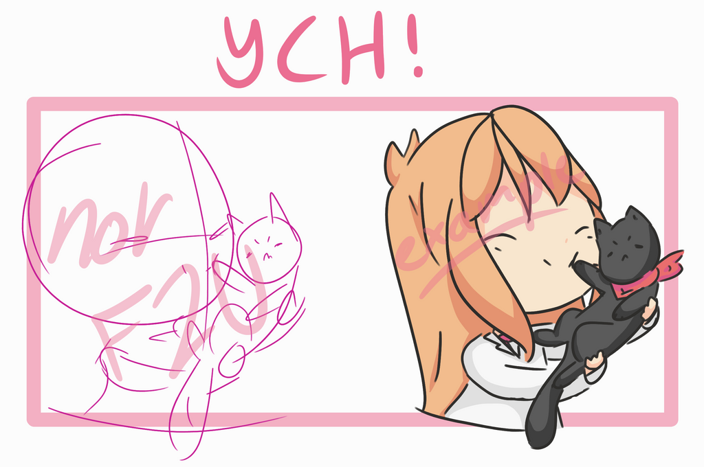 Hugging Cat YCH [CLOSED] (may extend slots) by alliemews