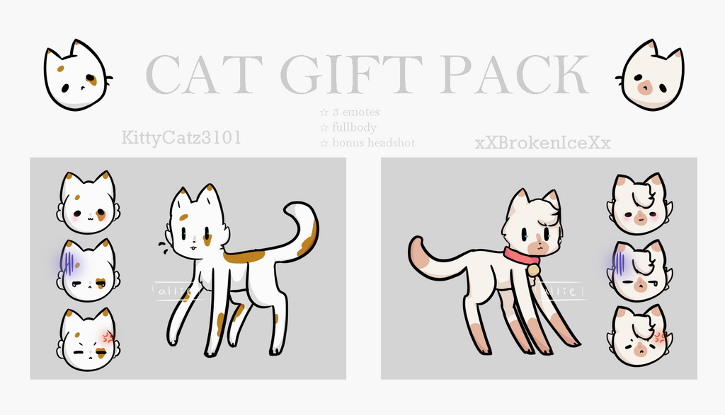 Cat Gift Pack by alliemews