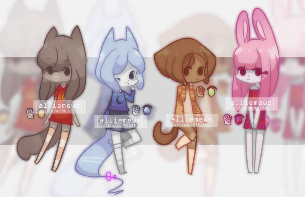 Anthro adoptables - open by alliemews