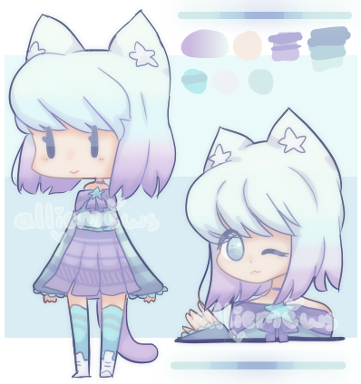 Starry Night Nekomimi Adoptable [AUCTION||CLOSED