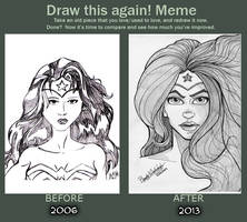Before and After - Wonder Woman by KeishaMaKainn