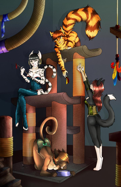 Cat Girls by AnkhsPaw