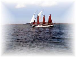 Nice fancy schooner boat