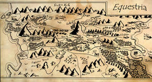 Map of Equestria (Tolkien-ified)