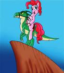 EqD ATG Day 4- Pinkie Pie Riding a Dinosaur