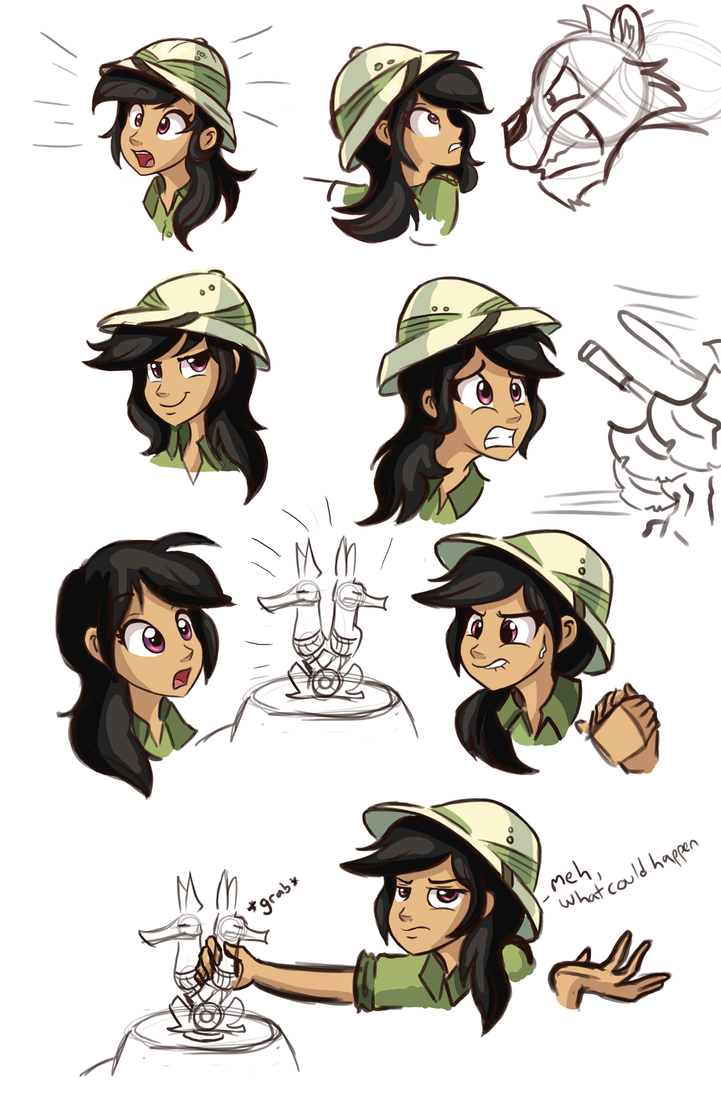 Daring Do Sketchdump 1 by Ric-M