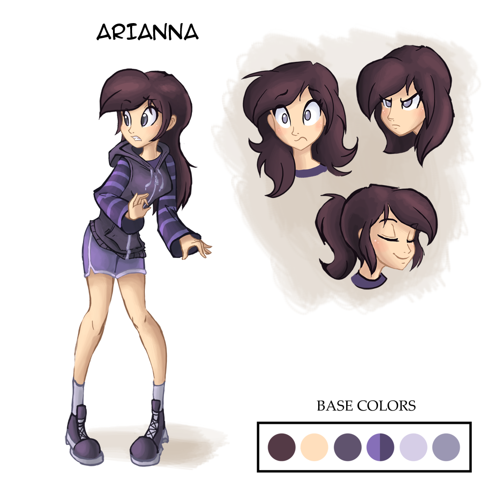 New Arianna Model Sheet by Ric-M