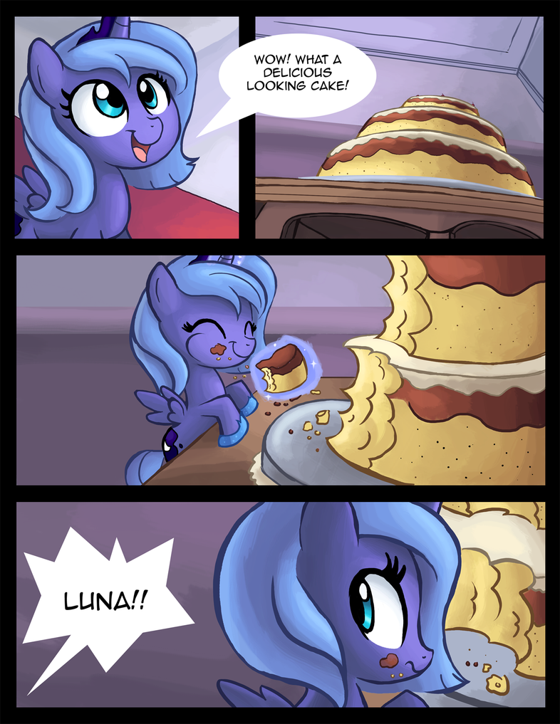 Filly Luna Eats Cake pt. 1 by Ric-M