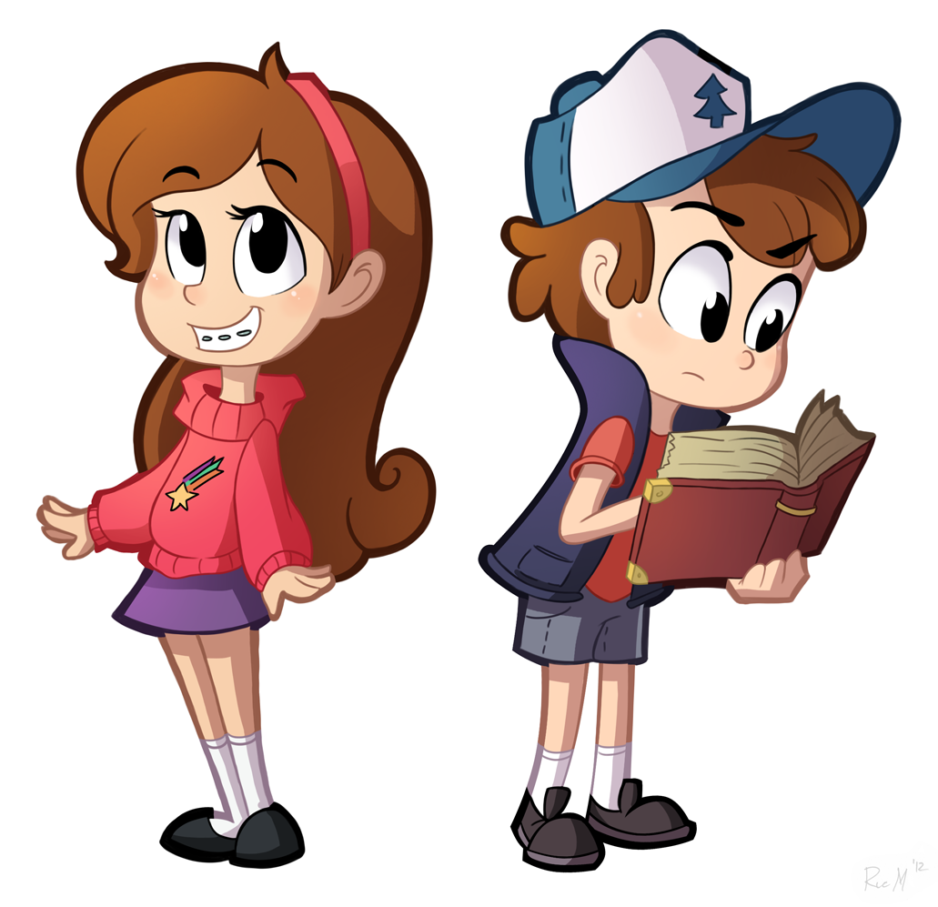 Day 21- Mabel and Dipper by Ric-MGravity Falls Mabel And Waddles And Dipper