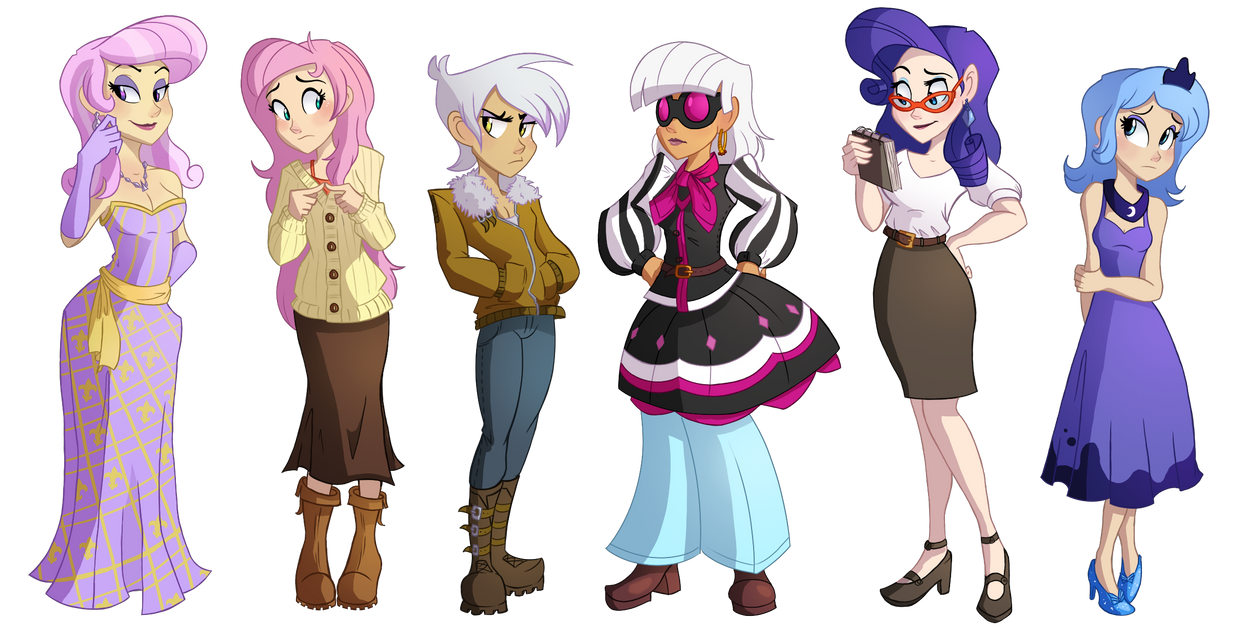 An Assorted Pony Lineup by Ric-M