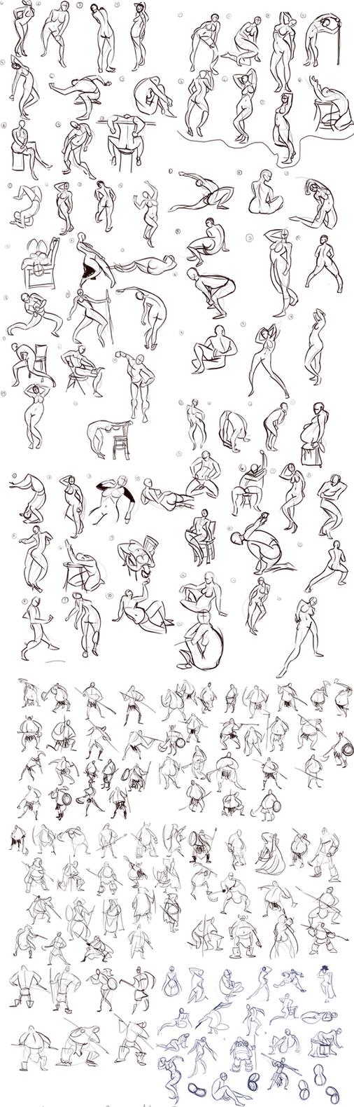 Gesture Sketchdump 1 by Ric-M