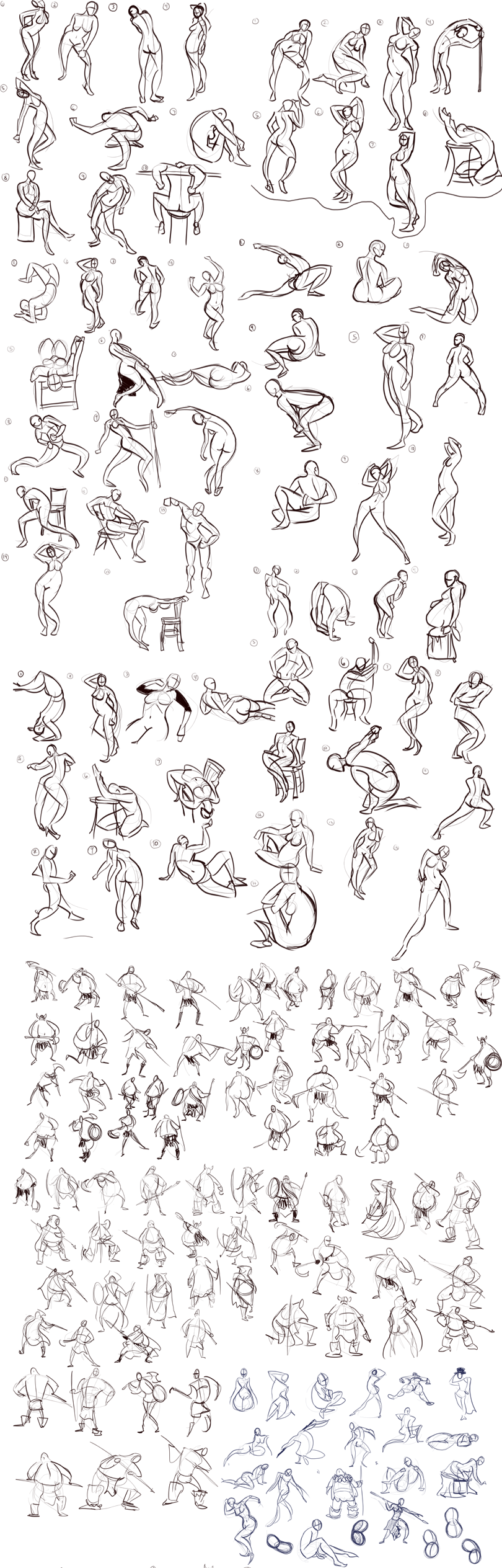 Gesture Sketchdump 1 by Ric-M