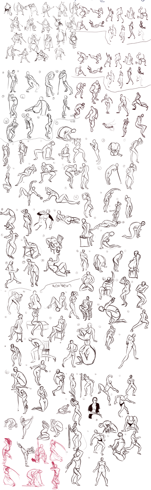 Gesture Sketchdump 2 by Ric-M