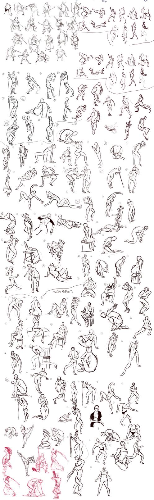 Gesture Sketchdump 2 by Ric-M