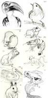 Animal Doodles Sketchdump 1