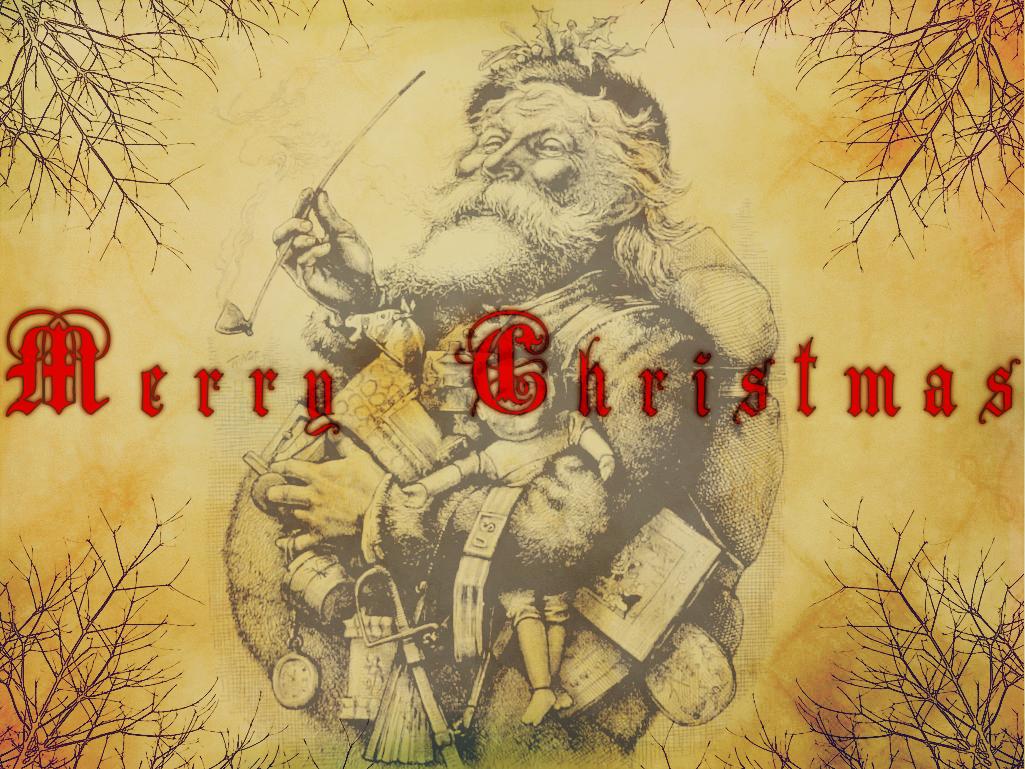 Vintage Father Christmas by goshdarnart