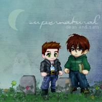 Supernatural Kawaii by goshdarnart