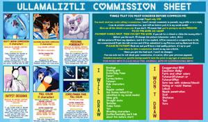 Ullamaliztli Commission Sheet [2017] by Ullamaliztli