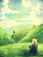 [Aph] In the middle of nowhere~ by Millen123