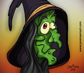 Cartoon Witch Doodle