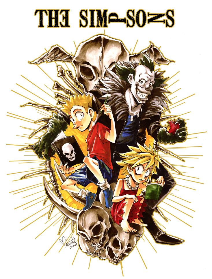 Simpsons Death Note by spacecoyote