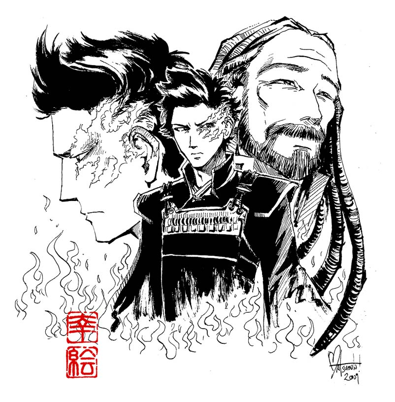 Zuko And Iroh Inked By Spacecoyote