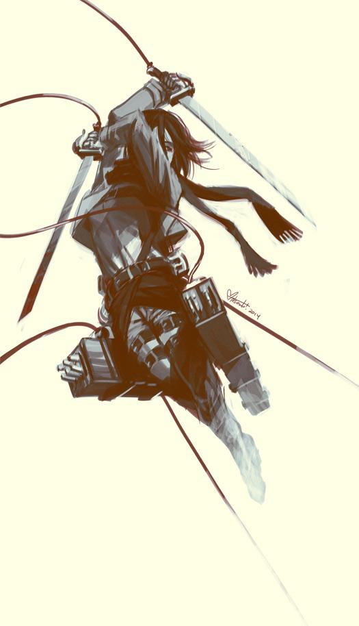 Mikasa In Flight by spacecoyote