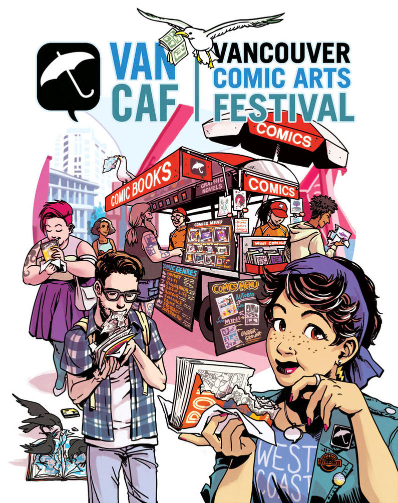 VanCAF 2015 Poster by spacecoyote