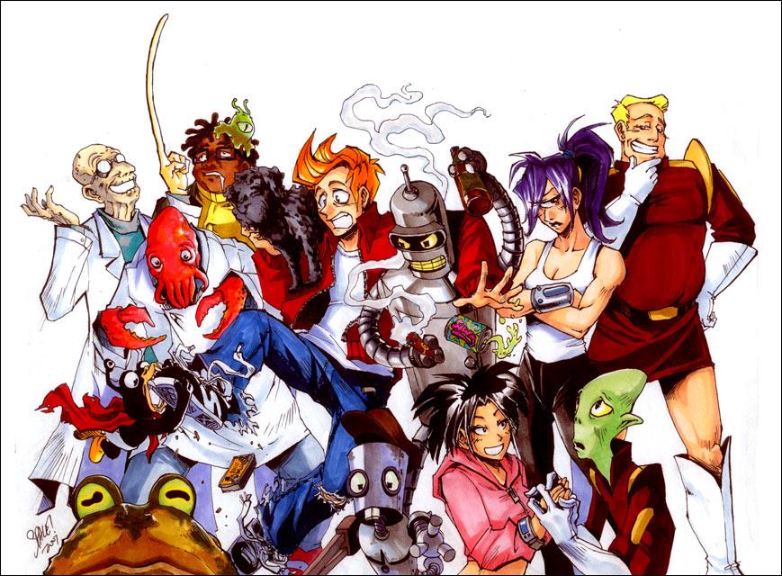 Futurama, manga style