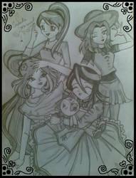 Anime girls crossovers by saeedamahmood