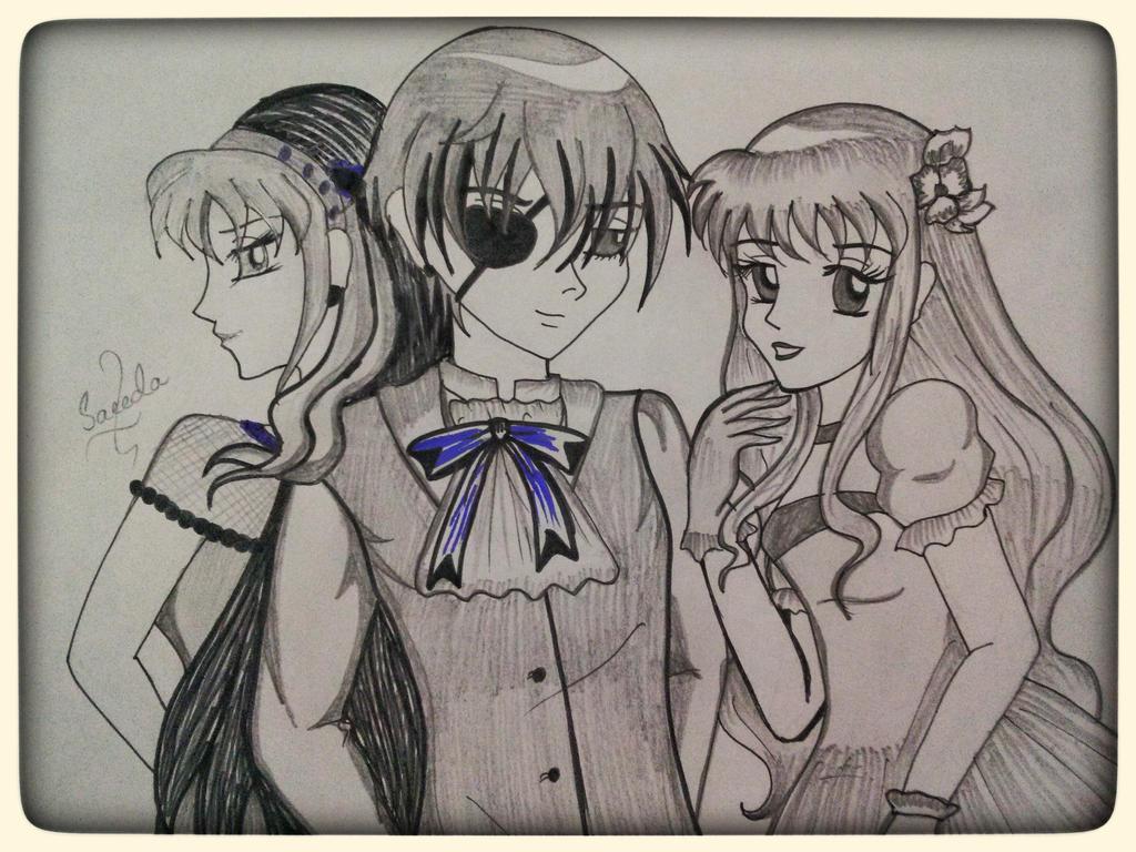 ciel,rebecca and azeneth by saeedamahmood